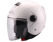 Helmet jet DF13 white pearl
