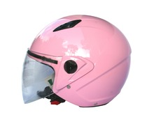 Casco jet DF601 new  rosa