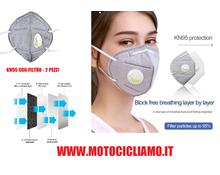 Coppia di mascherine KN95/FFP2 con filtro CERTIFICATE CE