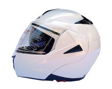 Casco modulare DF901 doppia visiera Flip-up bianco lucido