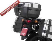 Portapacchi Suzuki DL650 V-Storm 2011-2015 per bauletti Monokey SR3101