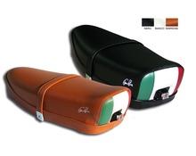 Sella Vespa 50 / 125 ET3 con serratura e tricolore posteriore