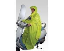 Fluorescent yellow raincoat poncho