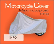 Motorcycle cover for maximoto plush lining