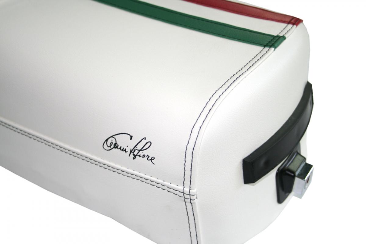 sella vespa 125 150 200 px con fascia tricolore. Black Bedroom Furniture Sets. Home Design Ideas